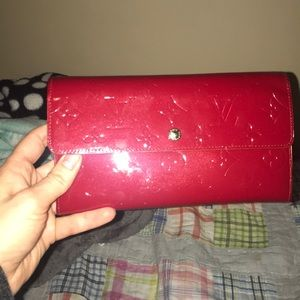 Louis Vuitton Red Vernis Leather Wallet